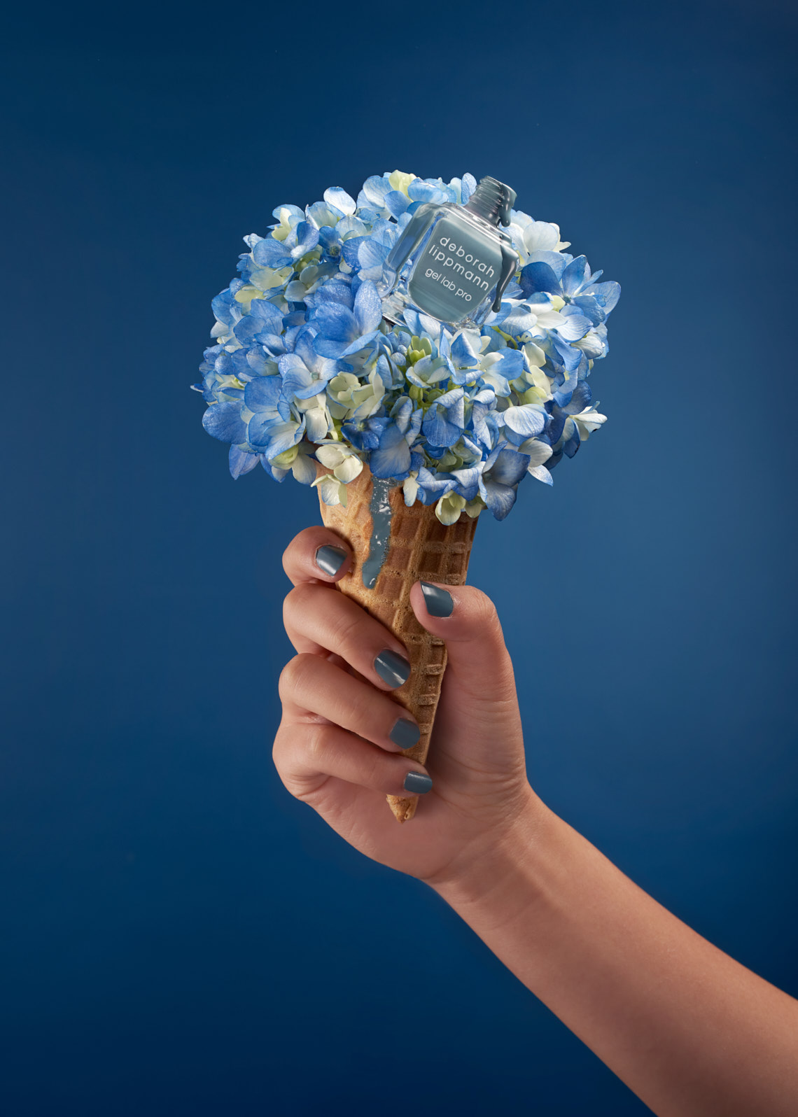 Debora Lippman nail polisher on a flower ice cream | Charlie Sin Photography | Product Photography