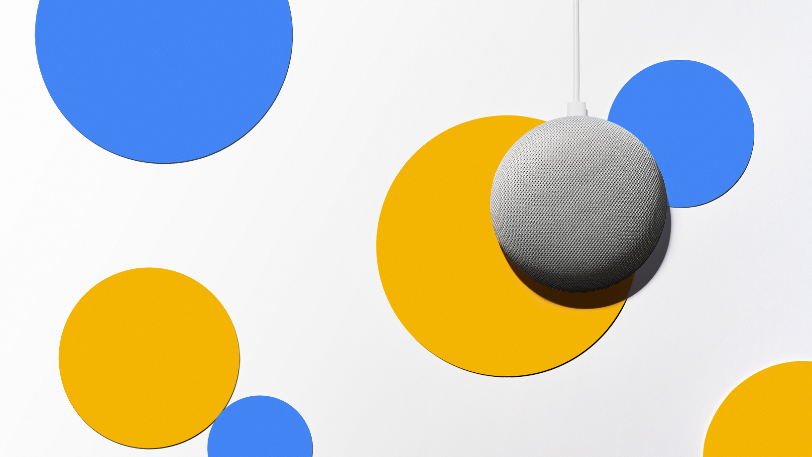Product shot, Polka Dots, Google Home Mini
