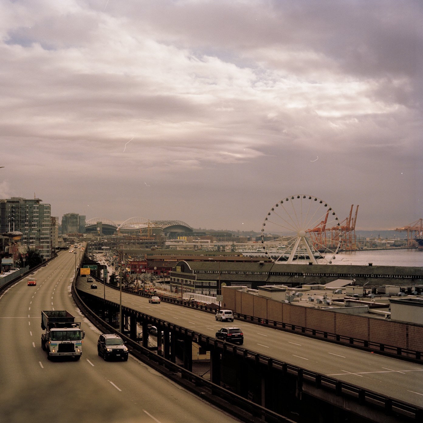 Seattle Freeway - Analog Photographer LA Charlie Sin