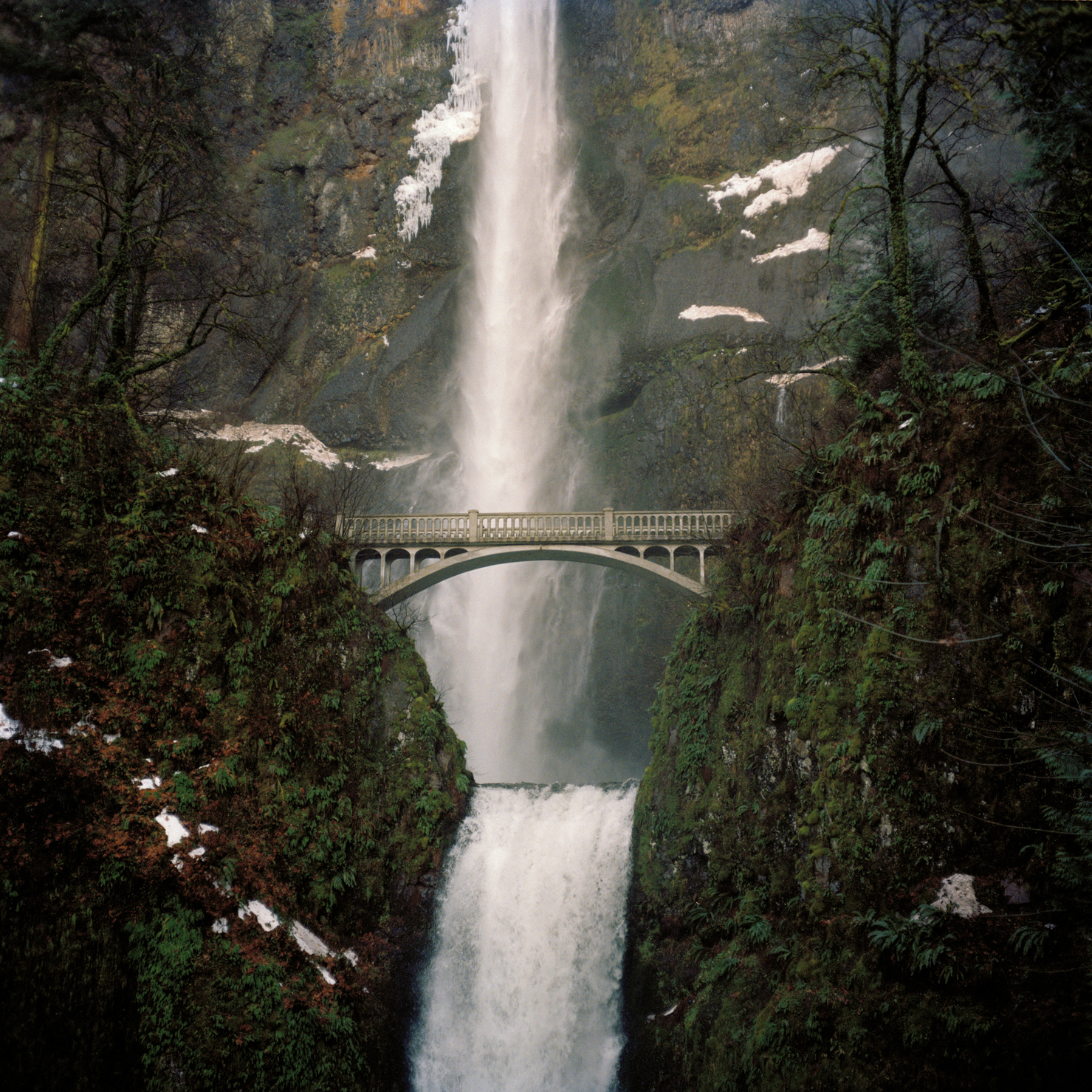 Visual imagery, film photos, multnomah falls